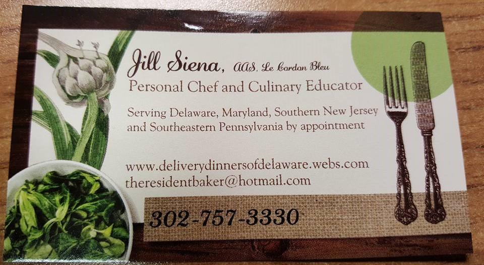 Chef Jill's Business Card