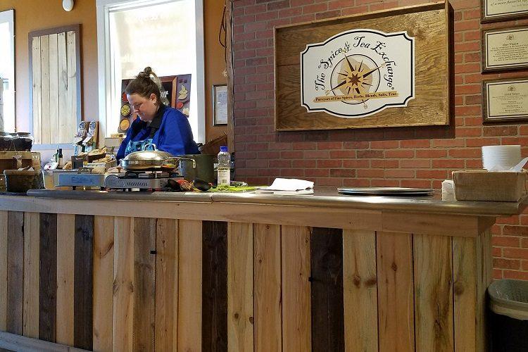 Chef Jill teaching.