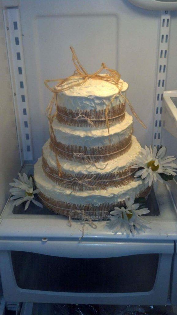 Summery/beach themed cake.